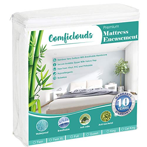 Comficlouds Premium Zippered Mattress Encasement,...