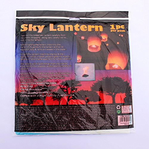 30Pack Sky Lanterns Biodegradable Chinese Ancient Wish Lanterns White Sky Lanterns in Memory of