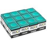 Pool Cue Chalk Cubes, 12-Pack - Table Billiards Stick Bulk Supplies, Equipment, Accessories - Games, Tournaments, Bars, Home, Sports & Hobbies (Green)