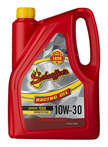 Schaeffer Manufacturing Co. 0709-006S Supreme 7000 Synthetic Plus Racing Engine Oil, 10W-30, 1-Gallon Bottle