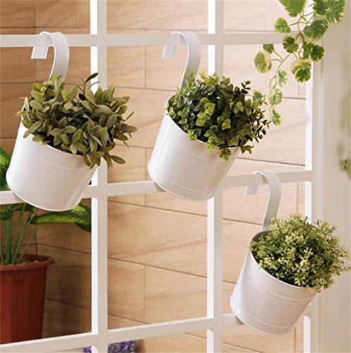 XYZ Continental Hanging Ferro Vasi di fiori ringhiere, balconi delicato durevole