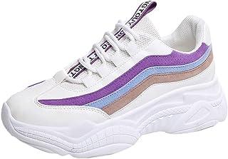 Zapatos Deporte Mujer Zapatos para Caminar Mesh Zapatillas Deportivas Correr Transpirable Aumentar Más Altos Sneakers Primavera/Verano Gimnasio Casual Running Antideslizante