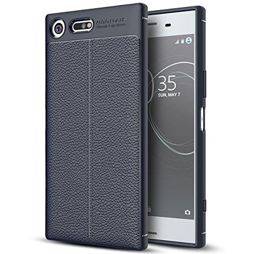 Capa premium para Sony Xperia XZ, capa de couro sintético premium para Sony Xperia XZ, capa macia antiderrapante de TPU para Sony Xperia XZ Premium de 5,46 polegadas [não serve para Sony Xperia XZ de 5,2 polegadas]