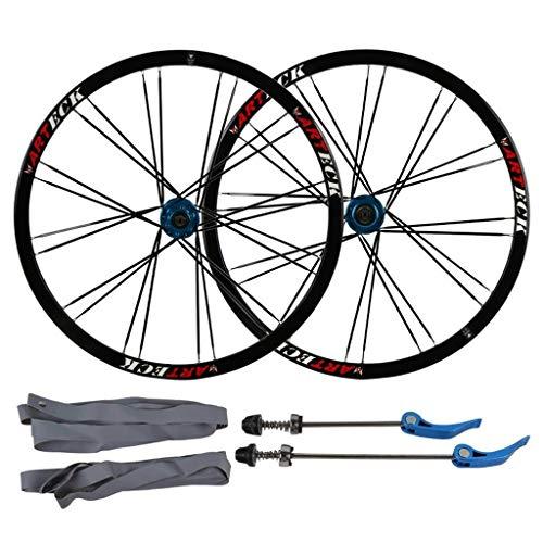ZNND 26 Pulgadas Bicicleta De Montaña, Pared Doble Llanta De MTB Lanzamiento Rápido V-Brake Ruedas De Ciclismo Híbrido 24 Hoyos Dto 7 8 9 10 Velocidad