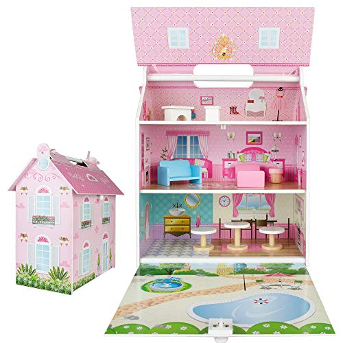 Play & Learn - Casa de muñecas de madera (ColorBaby 85295)