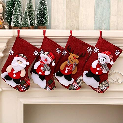 Christmas Stockings 4 Pieces Set Ornament - 9 inch | Greatest Treasure Buyers Club