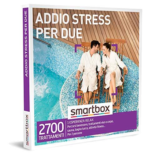 Smartbox - Addio Stress per Due - Cofanetto Regalo Coppia, 1 Esperienza Relax per 2 Persone, Idee...