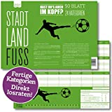 Stadt, Land, Fuss | Lustiges Ratespiel mit 24 Fussball-Kategorien | Spiele-Klassiker 2.0 |...