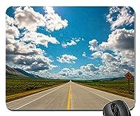 道路青空白い雲山カスタマイズされたマウスパッドファッション長方形マウスパッドファッションゲーミングマウスマット