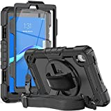 Herize Case for Lenovo Tab M8 HD TB-8505F TB-8505X / Smart Tab M8 TB-8505FS/ Tab M8 FHD TB-8705F with Pen Holder Screen Protector   Three Layer Durable Rubber Case W/ Stand Hand Strap Shoulder Strap
