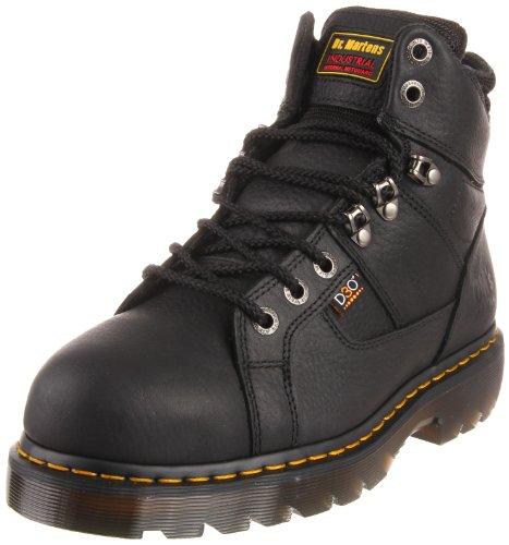 Dr. Martens Men's Ironbridge Steel IM Boot,Black Industrial Grizzly,7 UK/8 M US