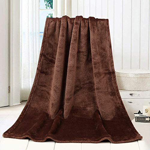 FRTU Soft flannel Double Bed large Blankets,Flannel fleece soft blanket for cushion/sofa/chair/sofa/lightweight, warm and comfortable-Brown_120cm*200cm