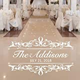 Vintage Wedding Decorations, Dance Floor Decal, Personalized Damask Wall Decor, 30 Colors & Several Sizes
