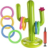 BESTZY Cactus Gonfiabile Set , Gonfiabile Lancio Anelli Gioco, Anelli Gonfiabili, Giocattolo per Bambini, per Piscine Giocattoli gonfiabili, Decorazione Partito Piscina Giocattoli