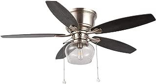 Hampton Bay Stoneridge 52 in. LED Indoor/Outdoor Brushed Nickel Hugger Ceiling Fan with Light Kit