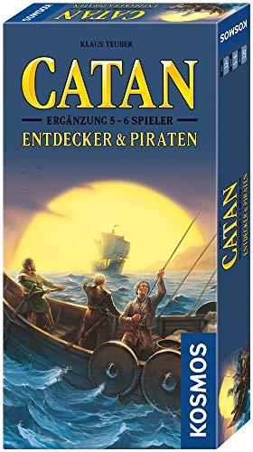 KOSMOS 694111 - CATAN- Entdecker und Piraten, Ergänzung für 5 - 6 Spieler, Strategiespiel