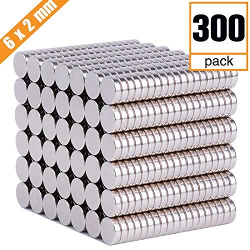 FINDMAG 300 PCS Refrigerator Magnets Premium Brushed Nickel Fridge Magnets,Office Magnets,Whiteboard Magnets