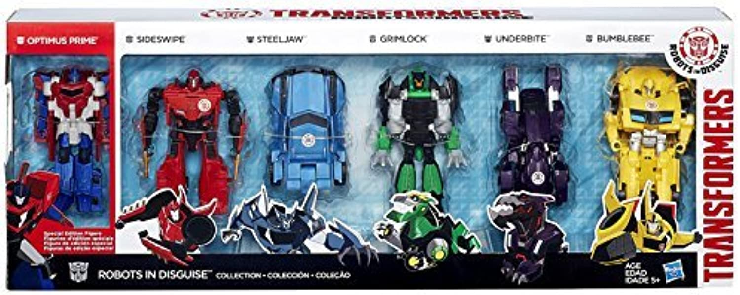 Transformers Robots in Disguise Robots in Disguise Collection 5 Action Figure 6-Pack [3-Step Changer] by Transformers