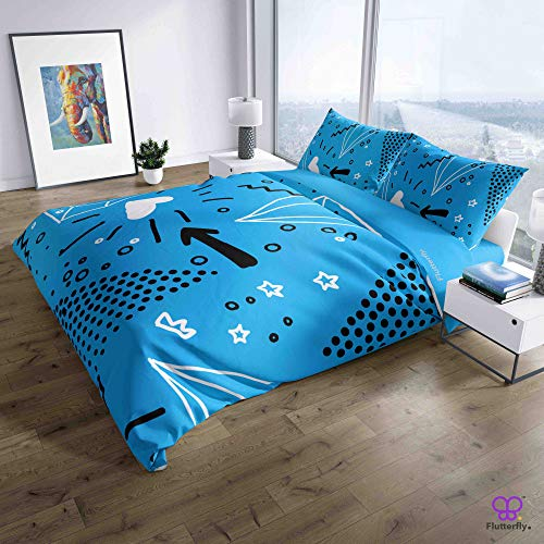 Flutterfly Duvet Cover King Size superk Duvet Cover Queen superk Bedding Set Bed Set Queen housse de couette superking Neo Memphis Design (73-1113)