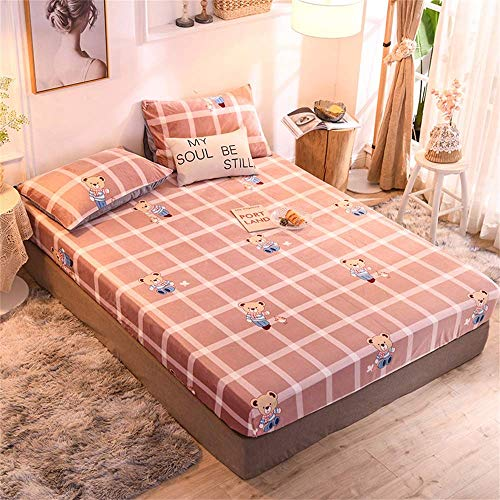 Dustproof Bed Cover Mattress Protector Single Double Breathable Washable Poly-Cotton Quilted for Student Dormitory Home Floor Mattress,K,150 * 200 * 23cm/59 * 79 * 9in