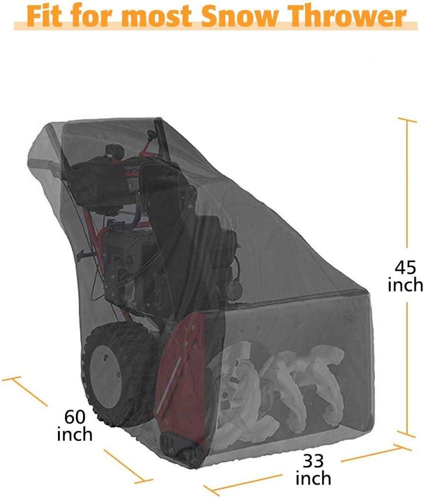 Protection ext/érieure Toutes Saisons Tissu Oxford 600D et rev/êtement PVC Housse de souffleuse /à Neige r/ésistante imperm/éable JTYX Housse de souffleuse /à Neige