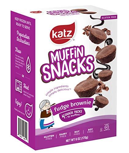 Katz Gluten Free Fudge Brownie Muffin Snacks | Dairy Free, Nut Free, Soy Free, Gluten Free | Kosher (1 Pack, 6 Ounce)
