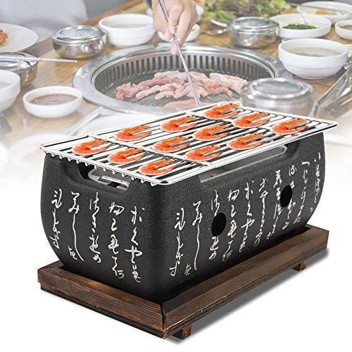 Sevenyou Red de Barbacoa, Horno Rectangular, Cocina Japonesa, Estufa de carbón, Estufa de Alcohol de Barbacoa Japonesa de Aluminio + Acero Inoxidable