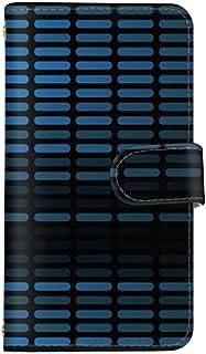 スマ通 iPhone11Pro スマホケース iPhone 11 Pro カード収納 ミラー 付き 手帳型 Apple アップル アイフォン イレブン プロ (C.ブルー) グラデーション ミュージック vd-0407