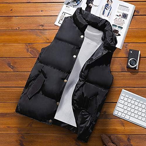 LYLY Vest Women Men Jacket Vest Jacket Sleeveless Autumn Winter Warm Sleeveless White Jacket Waistcoat Solid Men's Vest Casual Coats Vest Warm (Color : Black, Size : XL)