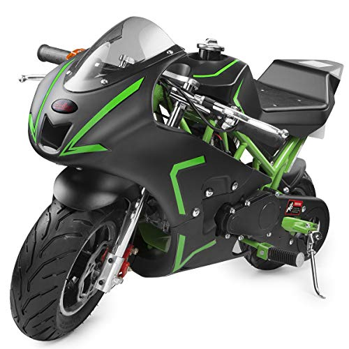XtremepowerUS 40CC 4-Stroke Gas Power Mini Pocket Motorcycle Ride-on (Green)