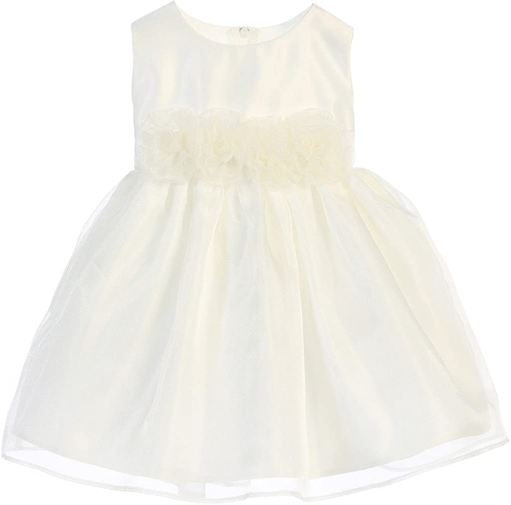 Sweet Kids Girls' Organza Flower Girl Dress (6-24M)