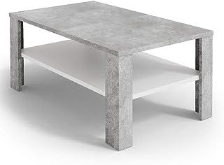 Vicco Table Basse Table de Salon béton Blanc Table Console Table d'appoint