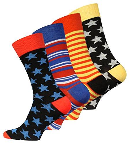 4 Paar Original Vincent Creation® Herren Trend-Socken