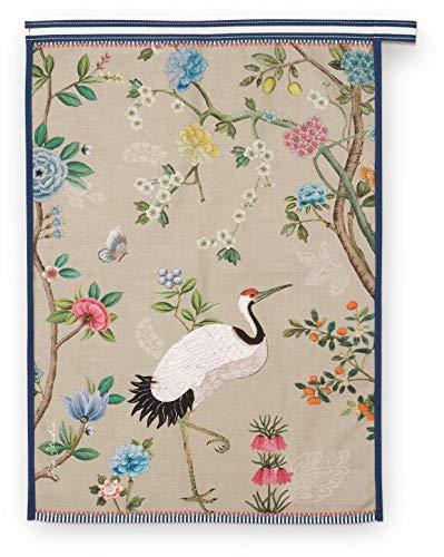 PIP Studio Geschirrhandtuch Blushing Birds | Khaki - 50 x 70 cm