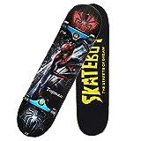 BD.Y Monopatín estándar 31 'Veces; Juego Completo de Skateboard de 8' Monopatín de Arce de 7 Capas Diseño cóncavo Profesional Rodamiento de precisión ABEC-11, Carga 396 Libras, Spiderman