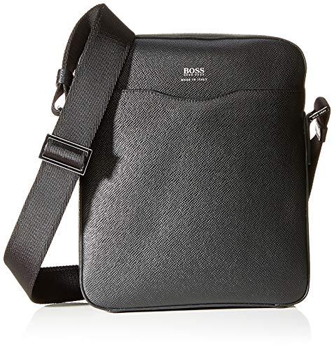 BOSS - Signature_ns Zip, Shoppers y bolsos de hombro Hombre, Negro (Schwarz), 6.5x27x22.5 cm (B x H T)