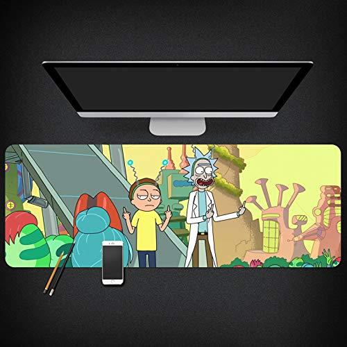Rick And Morty Rick And Morty Anime Around The Mouse Pad Dormitory Tapete de mesa de gran tamaño grueso