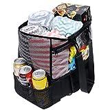 Große Mesh Strandtasche,Netz Strandtasche Tote Picknicktaschen,Pooltasche mit 7 großen Taschen und...