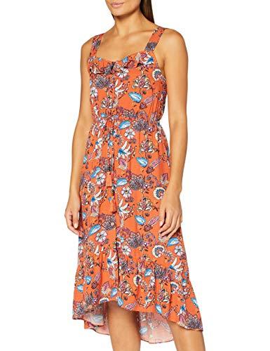 Springfield 7958897 Dress, Naranja, 42 Womens