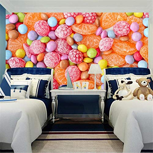 Cartoon 3D Fototapete Farbe Süßigkeiten Handgemalt Kinderzimmer Dekoration Umwelt Wandbild, 416 Cm (B) X 258 Cm (H)