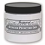Jacquard Professional Screen Print Ink, Water-Soluable, 16oz Jar, Super Opaque White (119)
