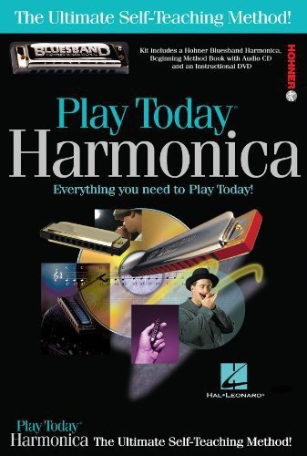 Hal Leonard 703707 Play Harmonica Today Complete Kit with Book/CD/DVD/Hohner Bluesband Harmonica