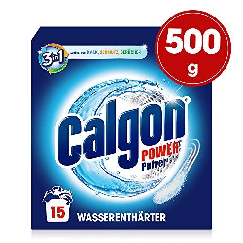 Calgon 3in1 Pulver, Wasserenthärter gegen Kalk & Schmutz in der Waschmaschine, 1er Pack (1 x 500 g)