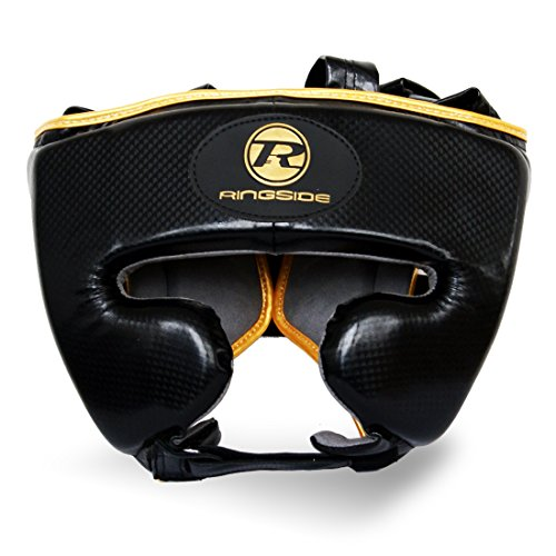 Ringside Boxing Pro Fitness Head Guard Synthetic Leather Metallic Black/Gold