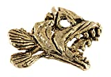 Creative Pewter Designs Skeleton Fish Head Freshwater Fish 22k Gold Plated Lapel Pin, Brooch, Jewelry, FG121