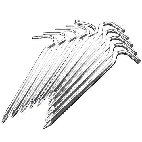 Gesh 18 cm lange Metall-Heringe für Camping, Pavillon, Zelt, Markisen, 10 Heringe