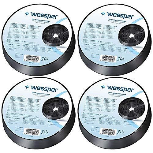Wessper Filtro campana extractora Carbón para AKPO Soft WK-4 WK-7 WK-5 (4 piezas)