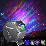 LED Multicolor Aurora Proyector Lámpara, Delicacy Dynamic Estrella Cielo Proyector Nocturna Luz, Musical Bluetooth...