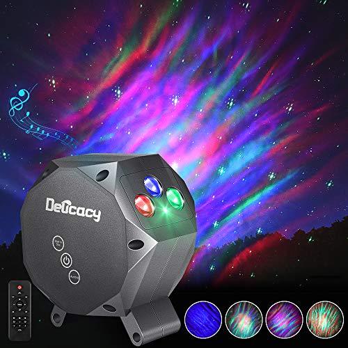 LED Multicolor Aurora Proyector Lámpara, Delicacy Dynamic Estrella Cielo Proyector Nocturna Luz, Musical Bluetooth Lámpara con Relajantes Luces Espectáculo,Niños Adultos Hogar Teatro Decoración Regalo