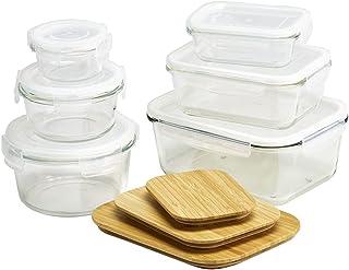 KÖKSKUNGEN - Matförvaringsset 15 delar i borosilikatglas med silkontätade lock. Innehåller rektangulära formar 0,25 L, 0,7...